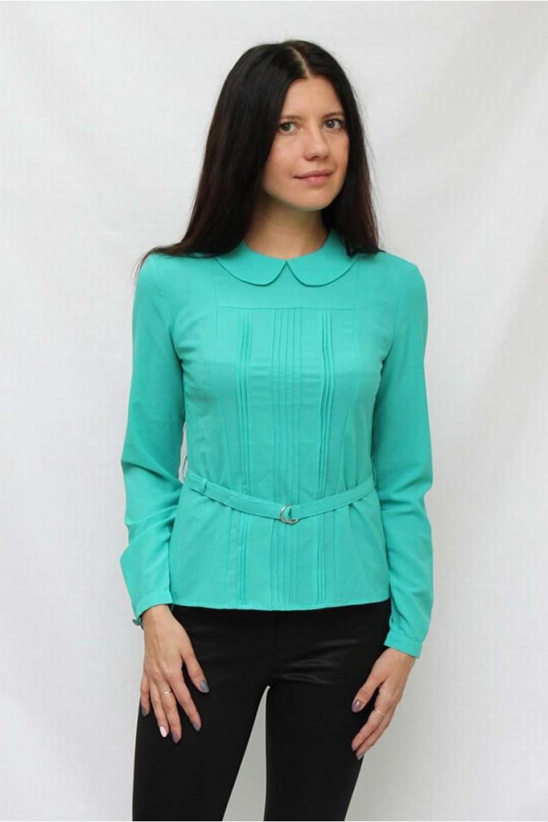 Блузка с круглым воротничком