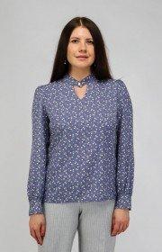 Блузка с пуговицей на горловине