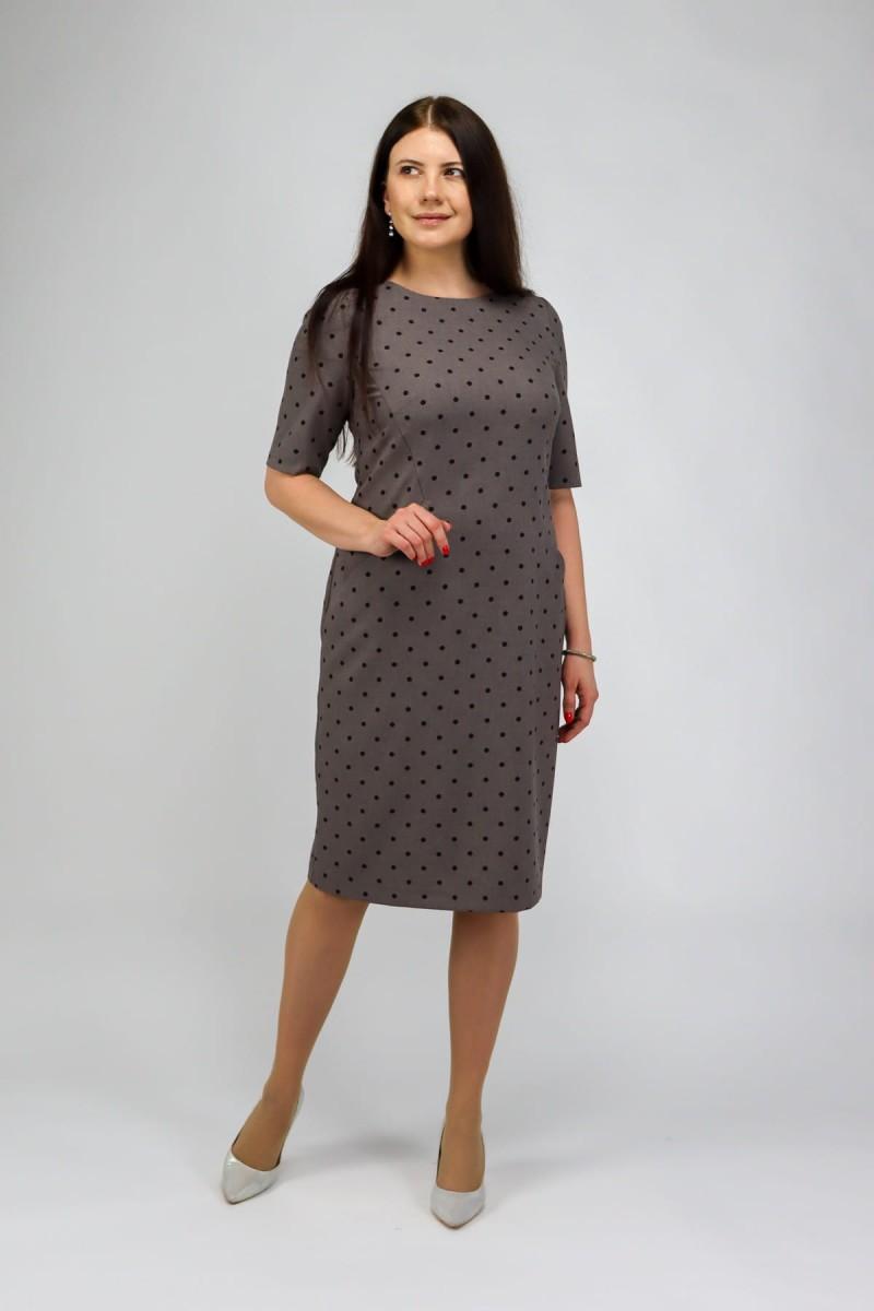 Платье футляр в горошек
