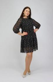 Шифоновое платье свободного силуэта