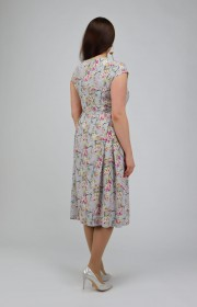 Платье с коротким рукавом из струящейся ткани
