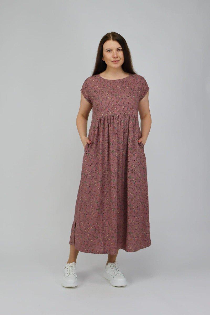 Прямое платье из хлопка