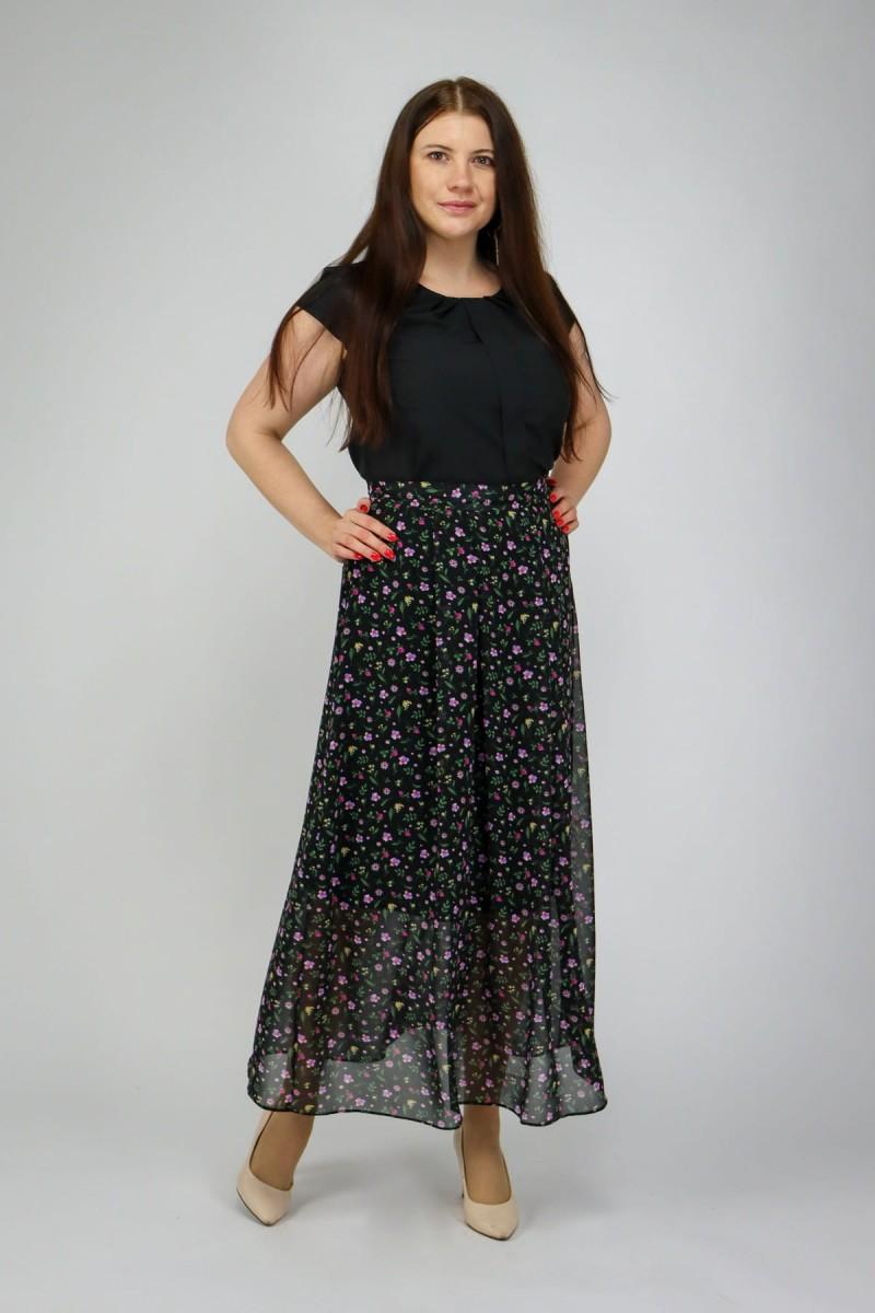Длинная юбка из шифона