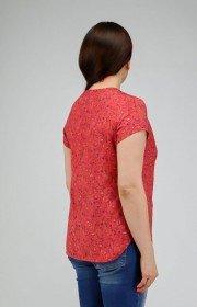 Блузка из хлопка с пуговицей на горловине