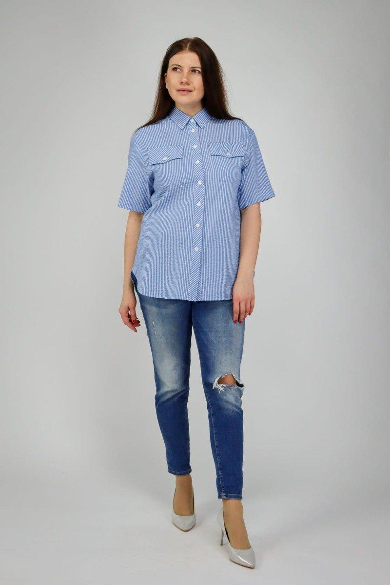 Полосатая рубашка из хлопка
