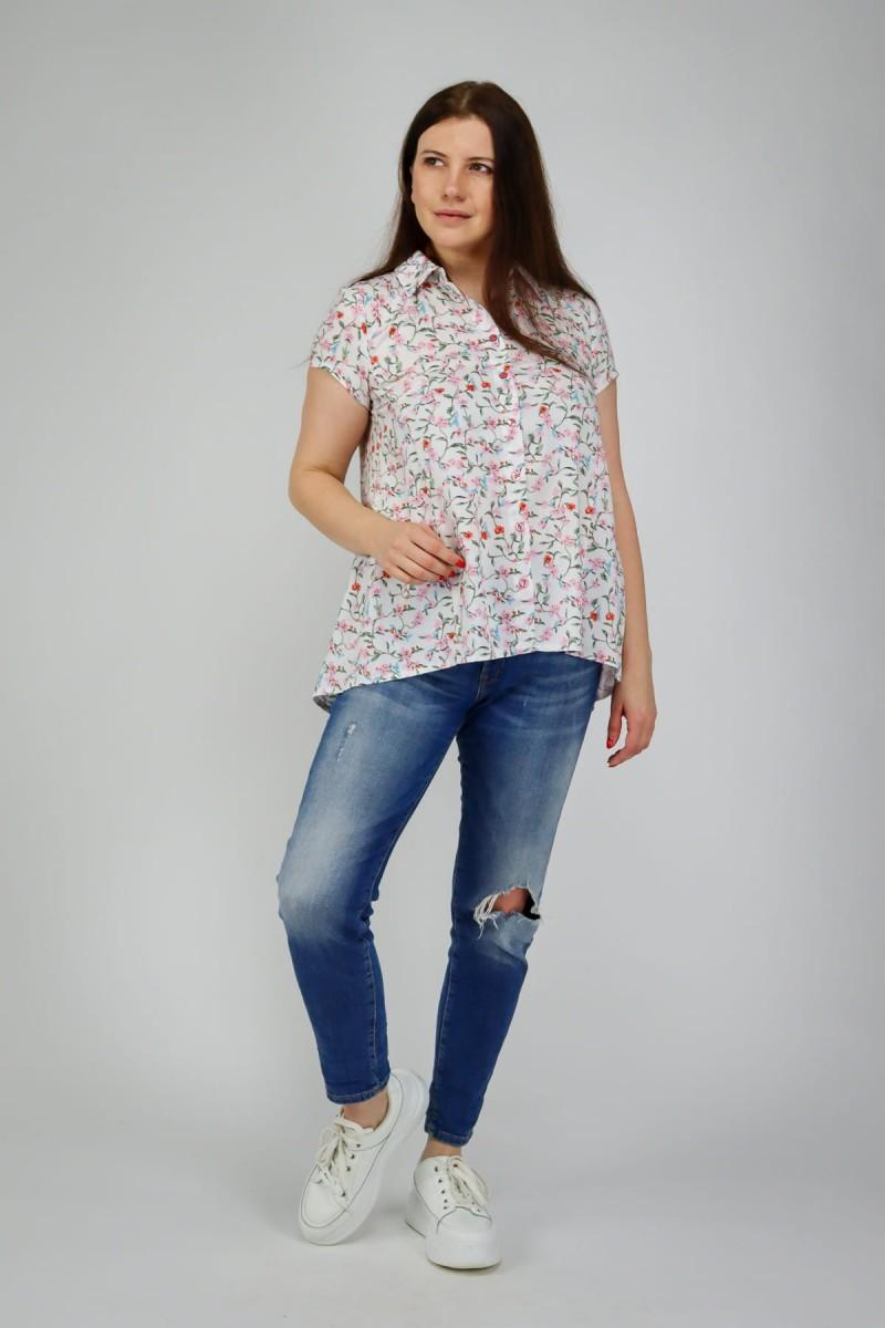 Расклешенная рубашка из хлопка