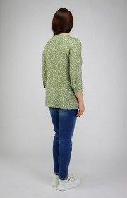 Удлиненная хлопковая блузка