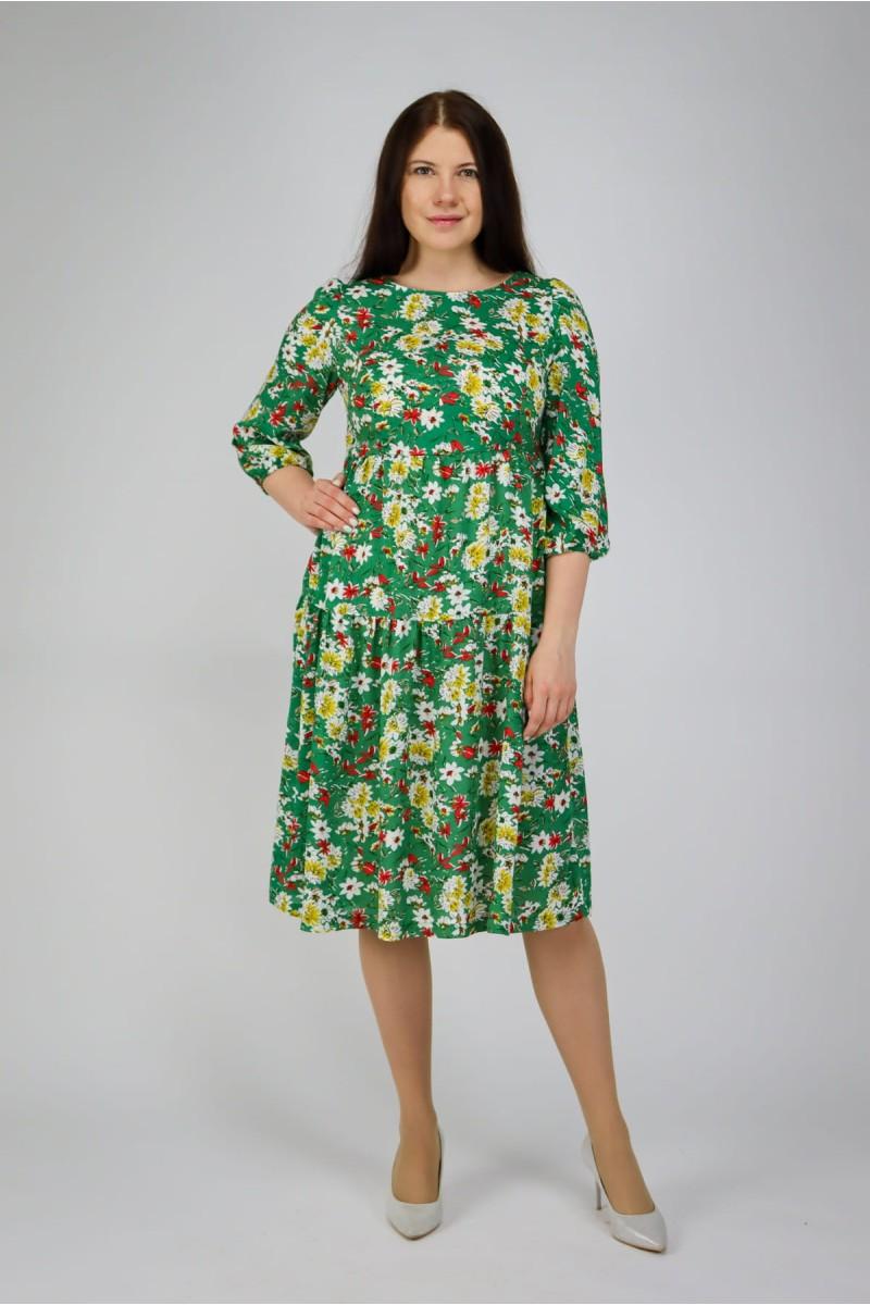 Свободное платье из штапеля
