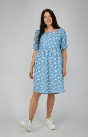Вискозное платье с принтом