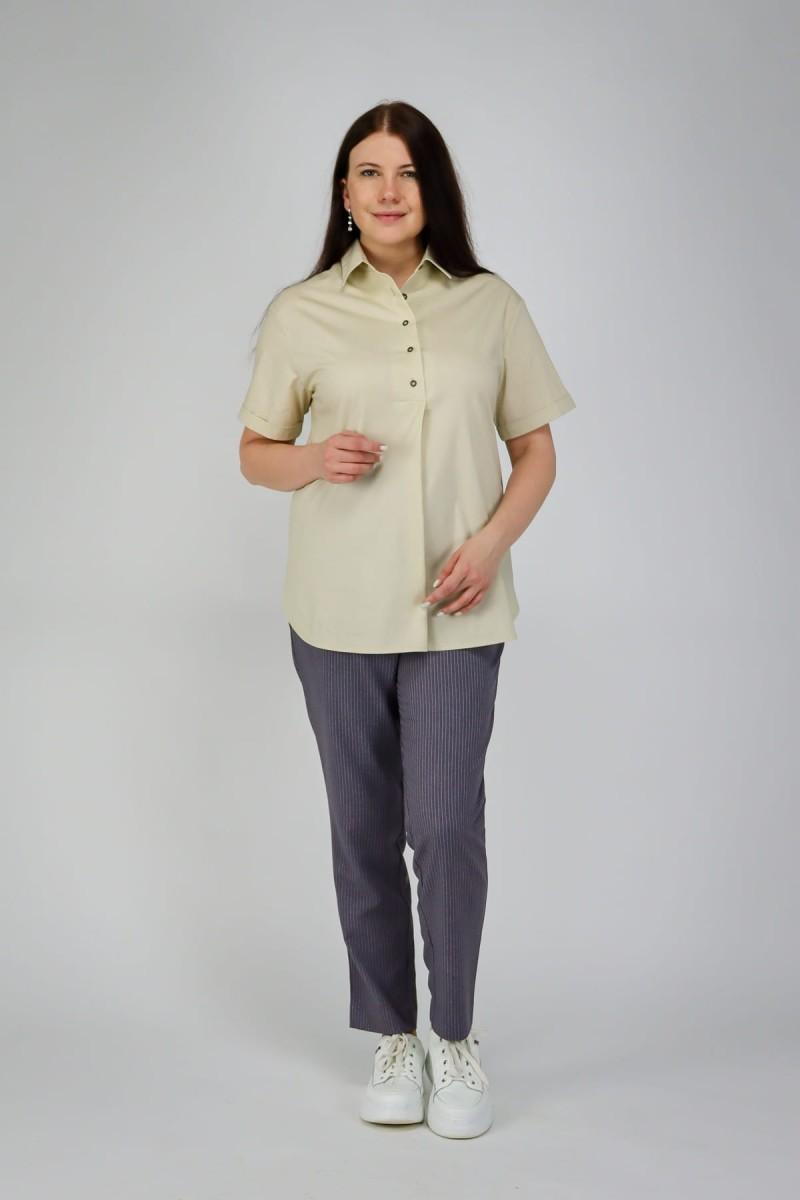 Свободная рубашка с пуговицами на спинке