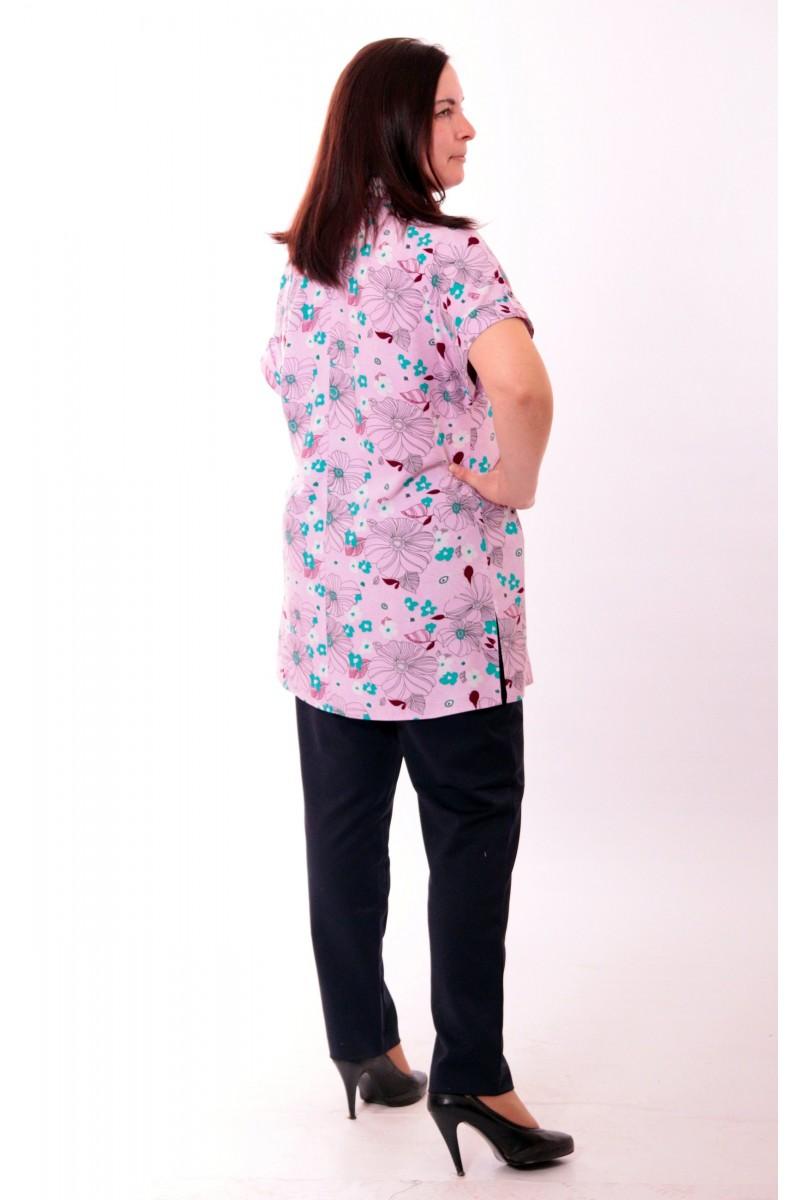 Рубашка удлиненная с принтом