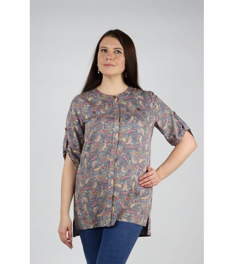 Рубашка с круглым воротничком