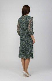 Платье из шифона с поясом