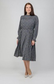 Платье с принтованными цветами