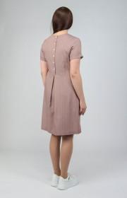 Хлопковое платье в горошек