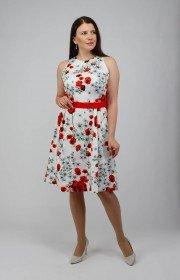 Платье без рукавов с принтом