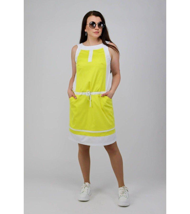 Платье на кулиске без рукавов