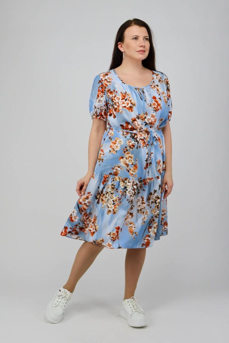 Платье с оборкой по низу