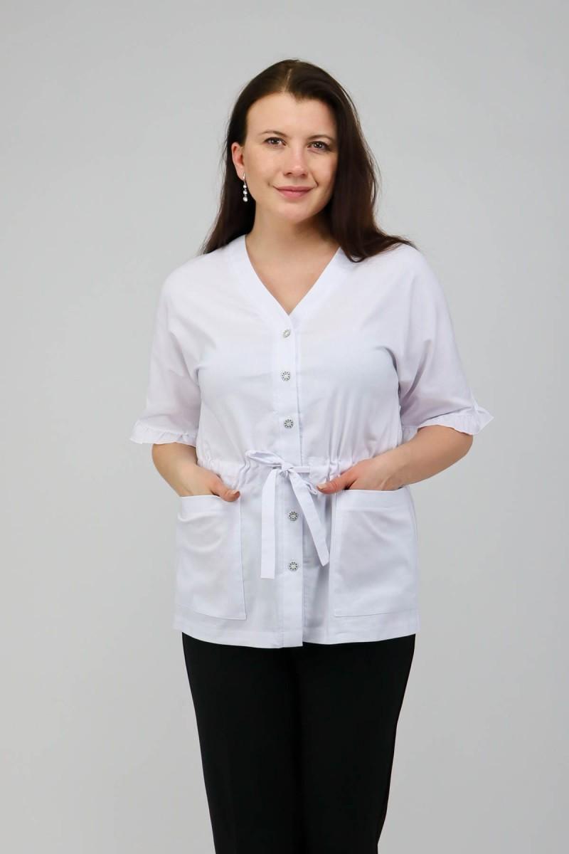 Блузка с карманами и кулиской