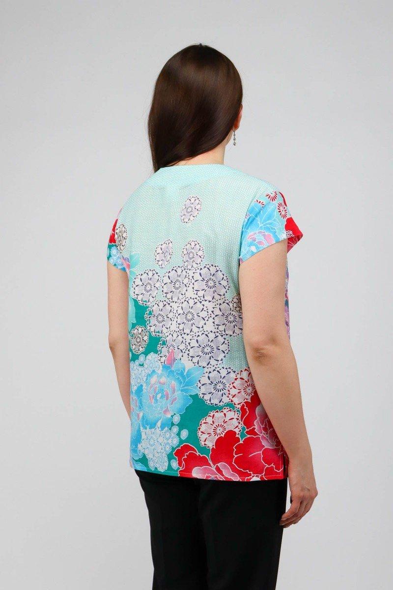 Удлиненная блузка из хлопка