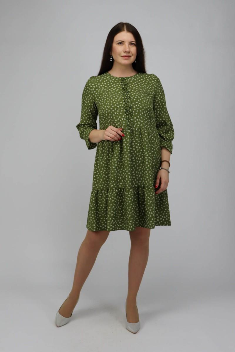 Платье с рюшей