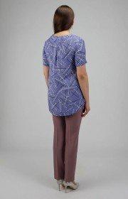Легкая блузка с коротким рукавом